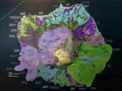 Geologische Karte von Nisyros