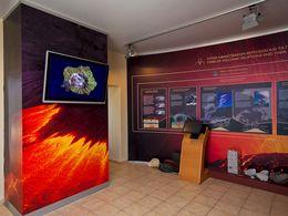 Einer der Bereiche des Vulkanmuseums
